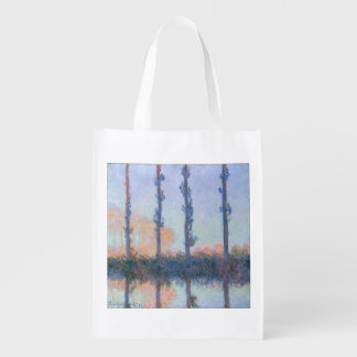 The Four Trees by Claude Monet Reusable Grocery Bag