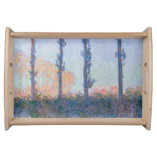 The Four Trees by Claude Monet Serving Tray