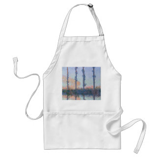 The Four Trees by Claude Monet Standard Apron