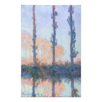 The Four Trees by Claude Monet Stationery