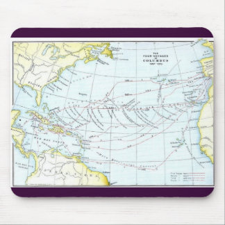 The_Four_Voyages_of_Columbus_1492-1503 Mouse Pad