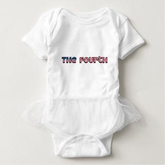 The Fourth American Flag Typography Stars Stripes Baby Bodysuit