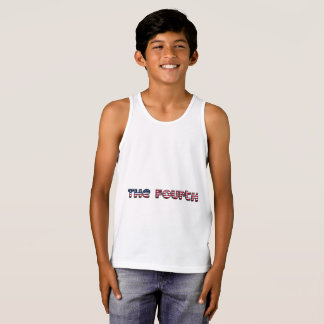 The Fourth American Flag Typography Stars Stripes Tank Top