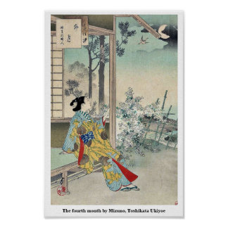 The fourth month by Mizuno, Toshikata Ukiyoe Poster