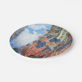 The Fourth of July by Childe Hassam 7 Inch Paper Plate