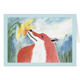 The Fox and the Daffodil Card