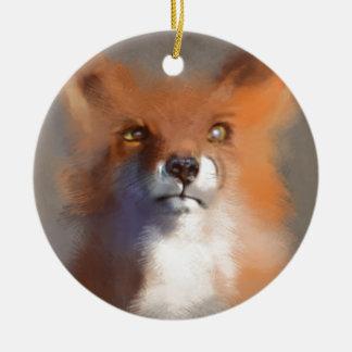 The Fox Ceramic Ornament