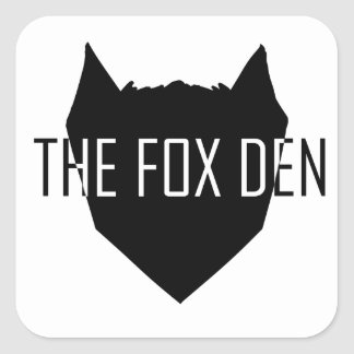"""The Fox Den"" Square Sticker"
