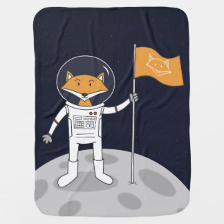 The Fox on the Moon - Baby Blanket