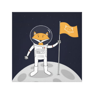 The Fox on the Moon Canvas Print