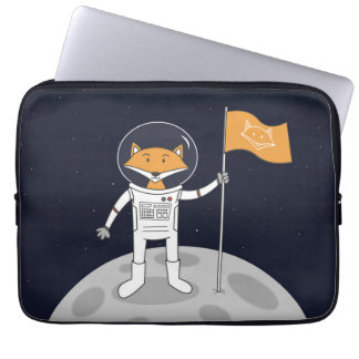 The Fox on the Moon Laptop Computer Sleeves
