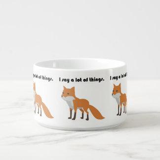 The Fox Says Internet Meme Cartoon Bowl