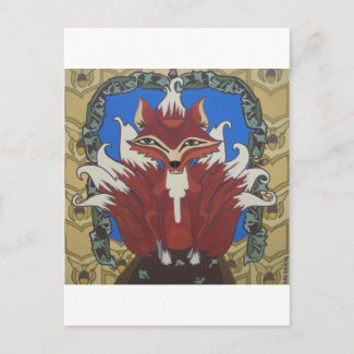 The fox with nine tails postcard