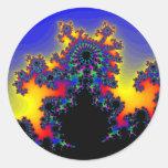 The Fractal's Edge: Round Sticker