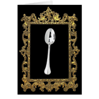 The Framed Spoon Greeting Card