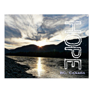 The Fraser River in Hope British Columbia Postcard