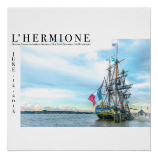 The Freedom Frigate in Old Town Alexandria Poster