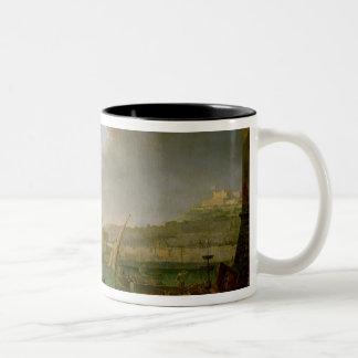 The French Army Entering Naples Two-Tone Coffee Mug