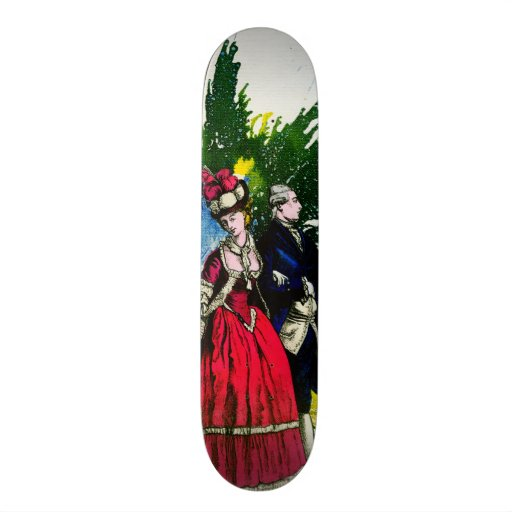The French Bourbons by Michael Moffa Custom Skate Board