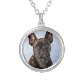 The French Bulldog Silver Plated Necklace