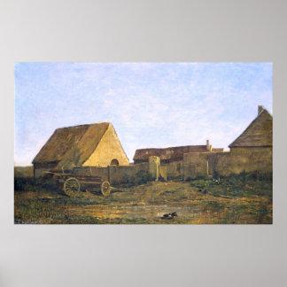 The French Farm by Charles-François Daubigny Poster