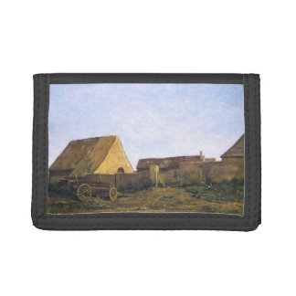 The French Farm by Charles-François Daubigny Trifold Wallet