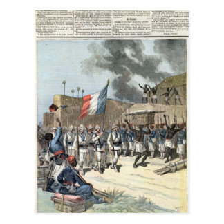 The French Flag Entering Abomey Postcard