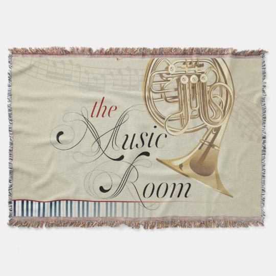 The French horn blanket Throw