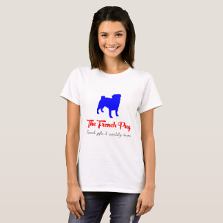 The French Pug Blue and Red T-Shirt