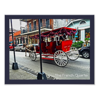 The French Quarter | Buggy Ride in Color Poster