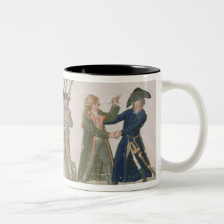 The French Vow 'Long Live Freedom or Die' Two-Tone Coffee Mug