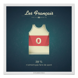 The French who do not like to make sport Poster