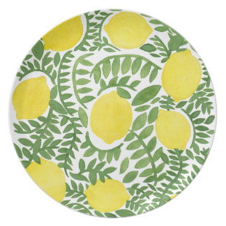 The Fresh Lemon Tree Party Plate