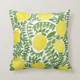 The Fresh Lemon Tree Throw Pillow