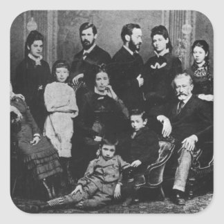 The Freud Family, c.1876 Square Sticker