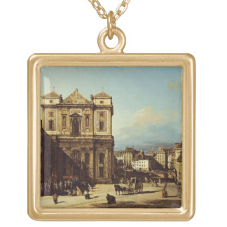 The Freyung in Vienna, view from the Northwest, c. Gold Plated Necklace