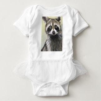 The Friendly Raccoon Baby Bodysuit