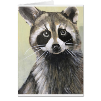 The Friendly Raccoon Card