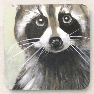 The Friendly Raccoon Coaster