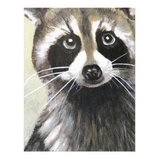 The Friendly Raccoon Customized Letterhead
