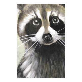 The Friendly Raccoon Customized Stationery