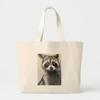 The Friendly Raccoon Large Tote Bag
