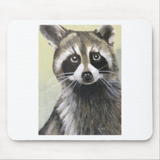 The Friendly Raccoon Mouse Pad