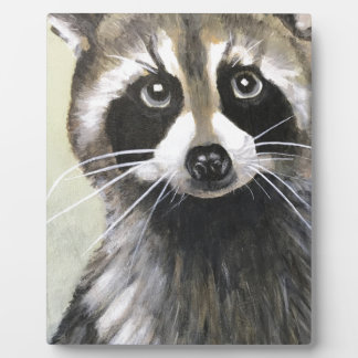 The Friendly Raccoon Plaque