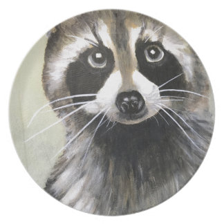 The Friendly Raccoon Plate