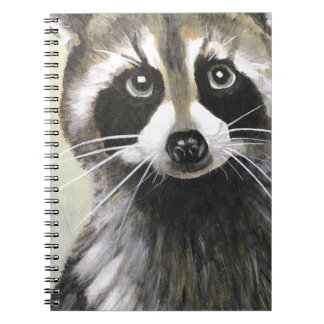 The Friendly Raccoon Spiral Note Book
