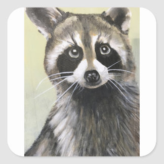 The Friendly Raccoon Square Sticker