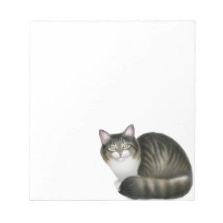 The Friendly Tabby Cat Notepad