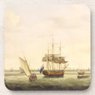 The Frigate 'Surprise' at Anchor off Great Yarmout Beverage Coasters