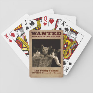 The Frisky Felines Playing Cards